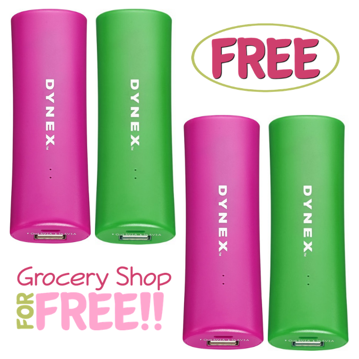 FREE Dynex Portable Charger!