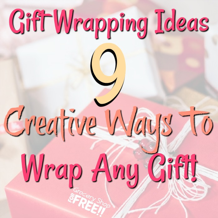 Are you looking for unique and fun ways to wrap your gifts?  This list of 9 Gift Wrapping Ideas To Wrap Any Gift is your answer!