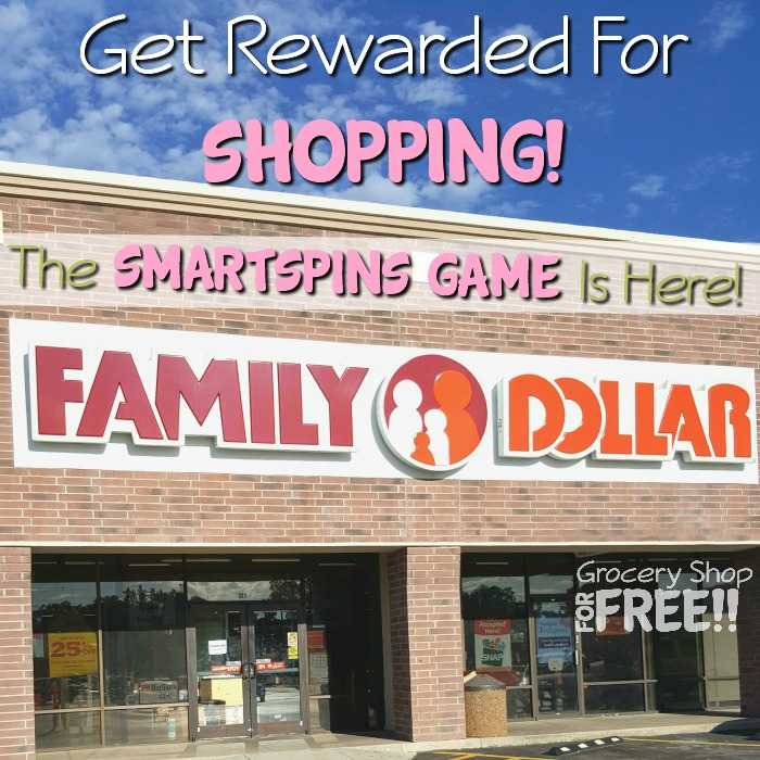 Want to get rewarded for shopping?  It's that simple with Family Dollar's new SmartSpins App Game!  Full tutorial here.