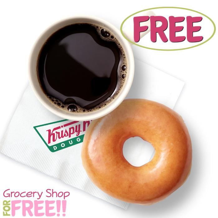 FREE Coffee PLUS Donut At Krispy Kreme!