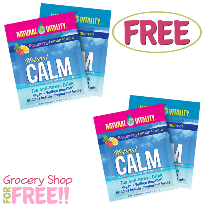 FREE Natural Vitality Calm Supplement Sample!
