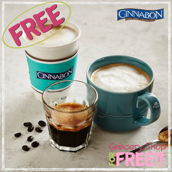 FREE 12-Oz Hot Coffee At Cinnabon!