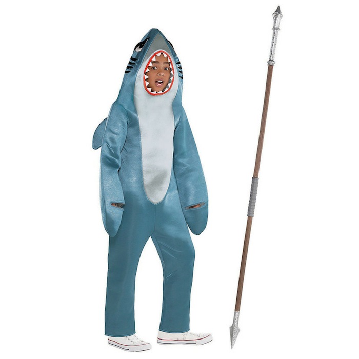 Child Shark Gamer Skin Costume Kit