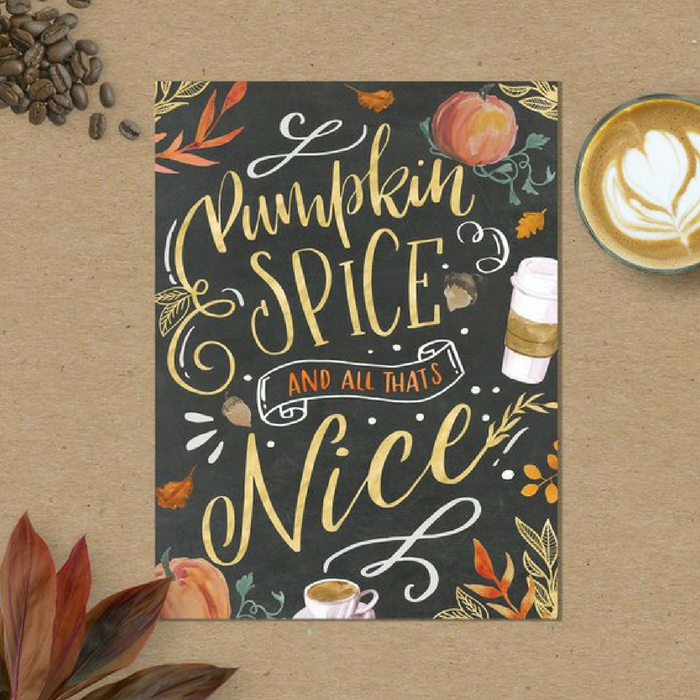 Pumpkin Spice Fall Wall Art by AdorenStudio
