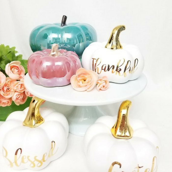 Fall Pumpkin Ceramic Decor by BlissfulPerfections