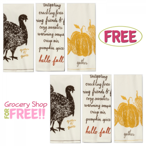FREE Thanksgiving Kitchen Towels!