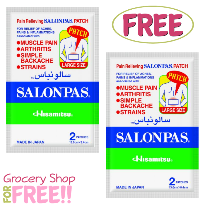 FREE Salonpas Patches Sample!