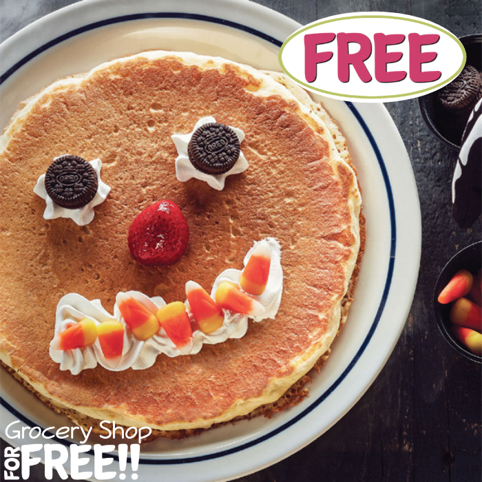 FREE Scary Face Pancake For Kids At IHOP!