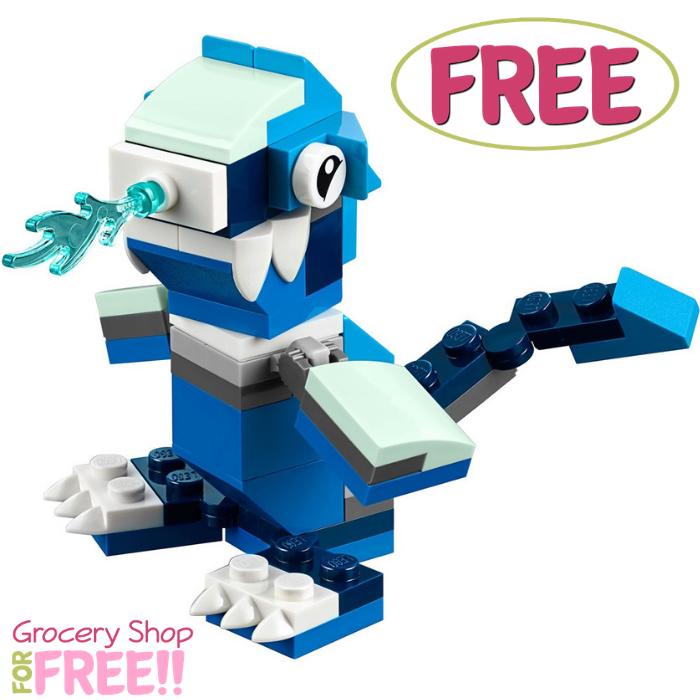 FREE LEGO Blue Dragon Mini Model Build Event!
