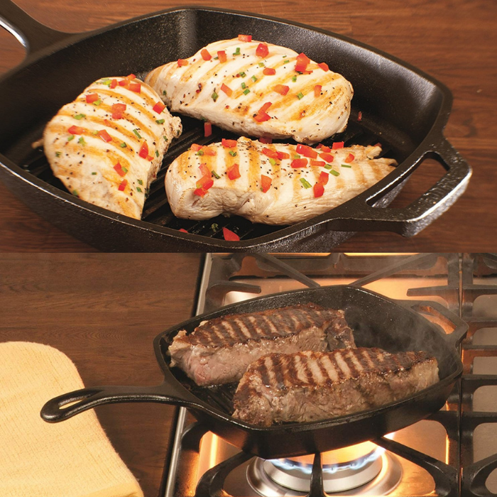 Lodge 10.5-Inch Grill Pan