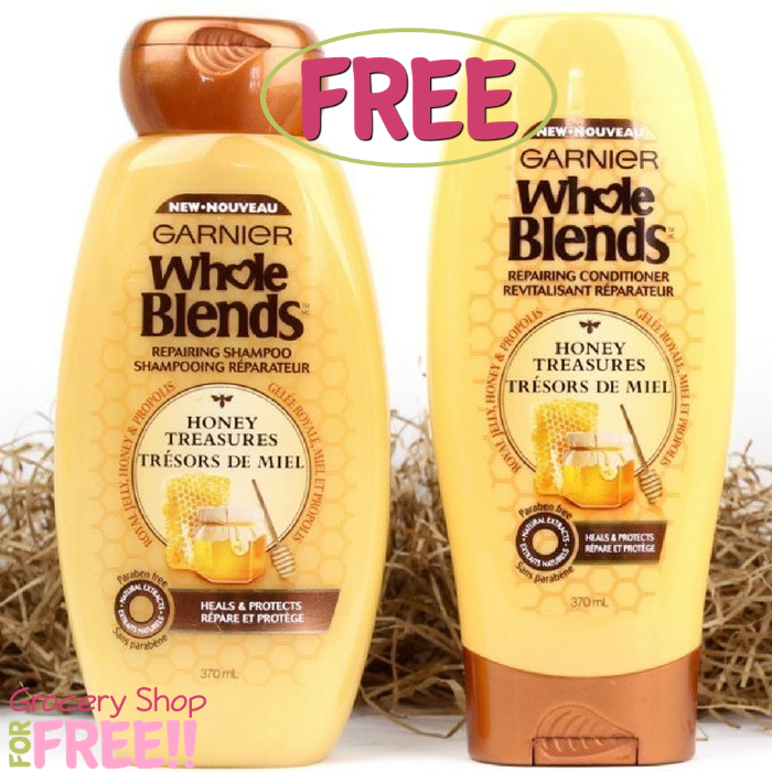 FREE Garnier Whole Blends Shampoo & Conditioner Sample!