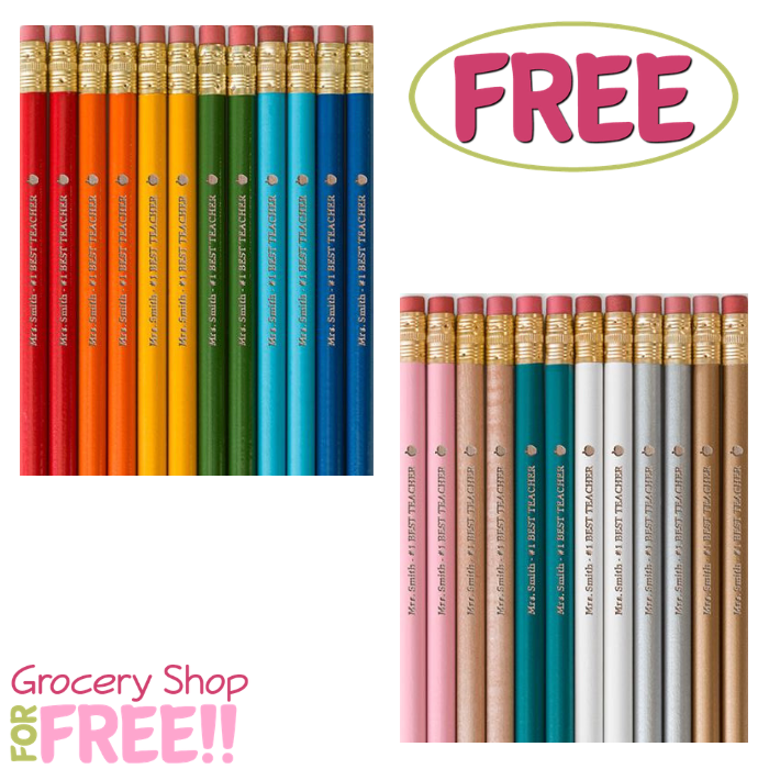 Free 12 Piece Personalized Pencils At Shutterfly
