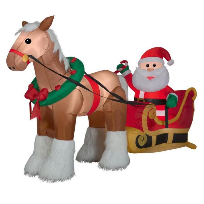 6.17-feet Lighted Santa Christmas Inflatable