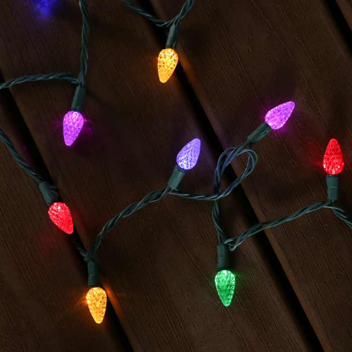150-Count 49.6-ft Multicolor LED Plug-In Christmas String Lights