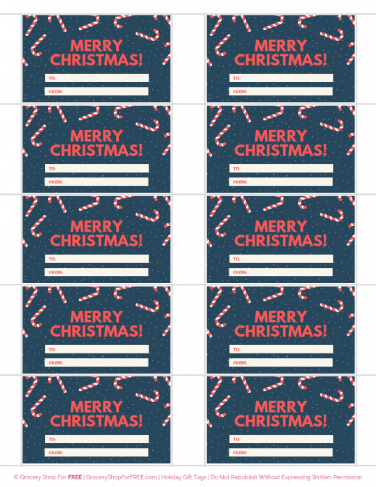 FREE Holiday Gift Tags!