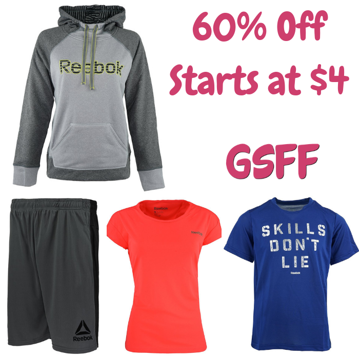 Extra 60% Off Selected Reebok Apparel