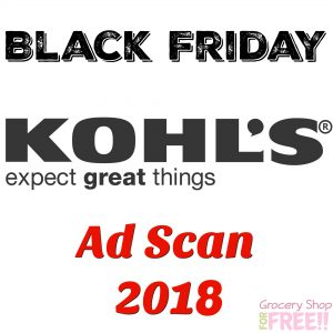 Kohl's Black Friday Ad Scan 2018!