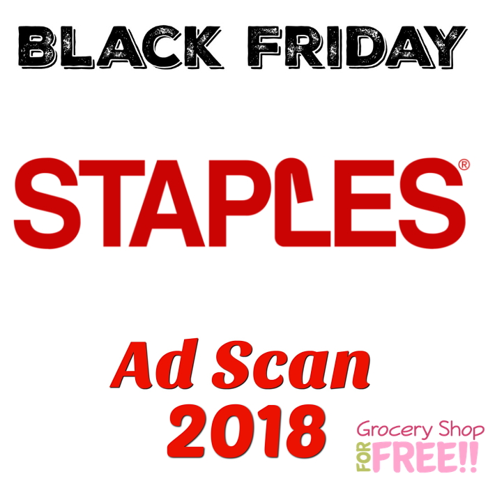 Staples Black Friday 2018 Ad Scan!
