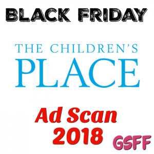 The Children's Place Black Friday 2018 Ad Scan!
