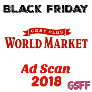 Cost Plus World Market Black Friday 2018 Ad Scan!