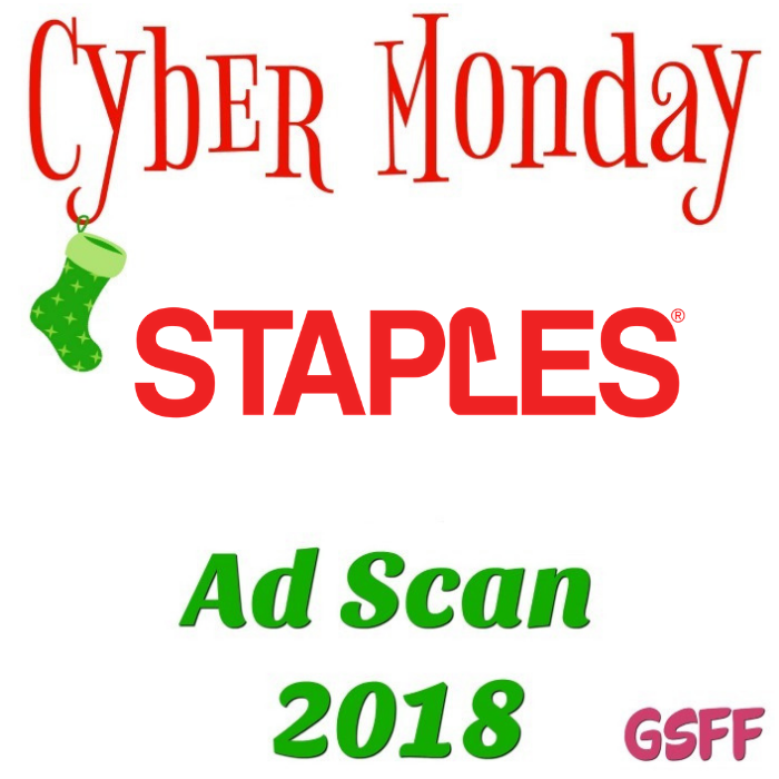 Staples Cyber Monday Deals 2018!