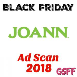 Joann Fabrics Black Friday 2018 Ad Scan!