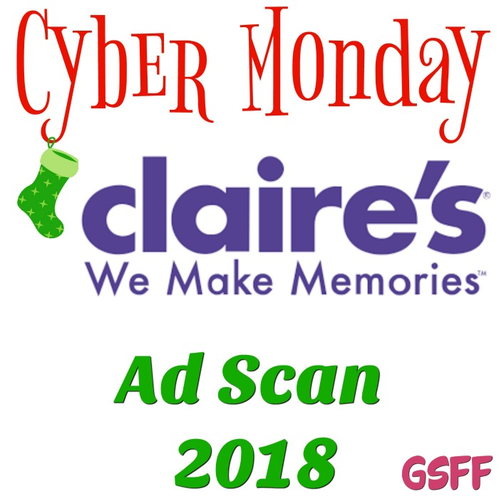 Claire's Cyber Monday Deals 2018!