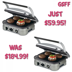 Cuisinart 5-in-1 Griddler Just $60! Down From $185! PLUS FREE Shipping!
