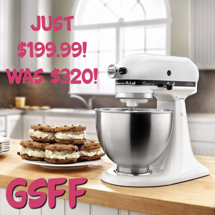 KitchenAid 4.5-Quart Stand Mixer Just $200! Down From $320! PLUS FREE Shipping!