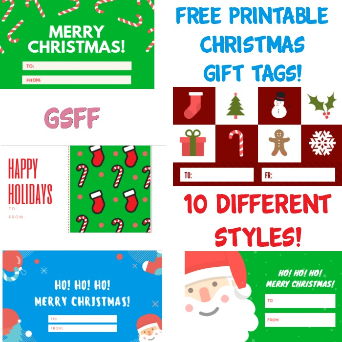 FREE Printable Christmas Gift Tags! 10 Printable Sets!