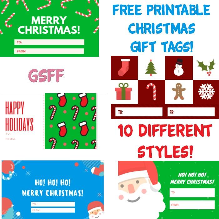 FREE Printable Christmas Gift Tags! 10 Printable Sets!