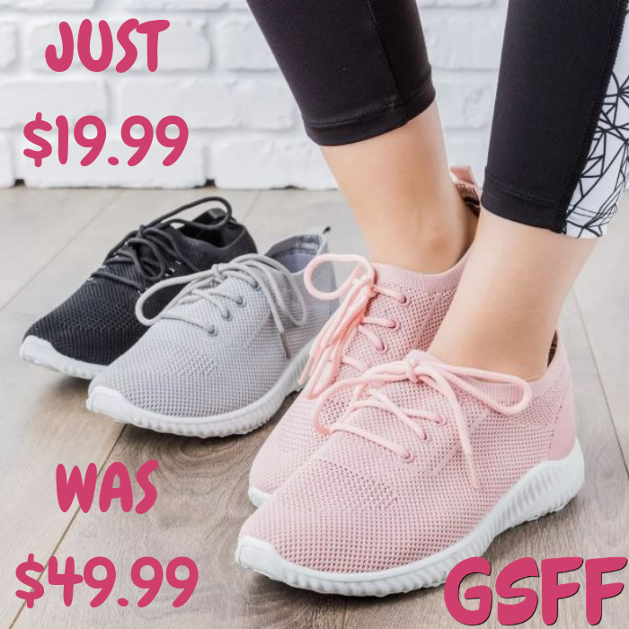 Knitted Mesh Sneakers Just $19.99! Down From $50! Shipped!