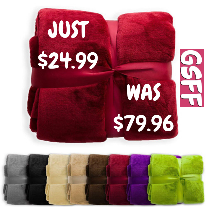 Plush Blanket 4-Pack