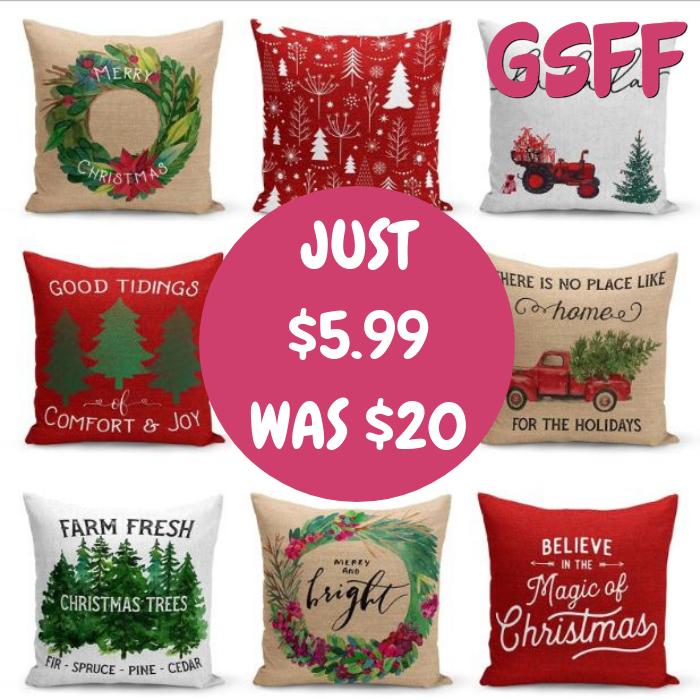 Farmhouse Christmas Pillow Cover