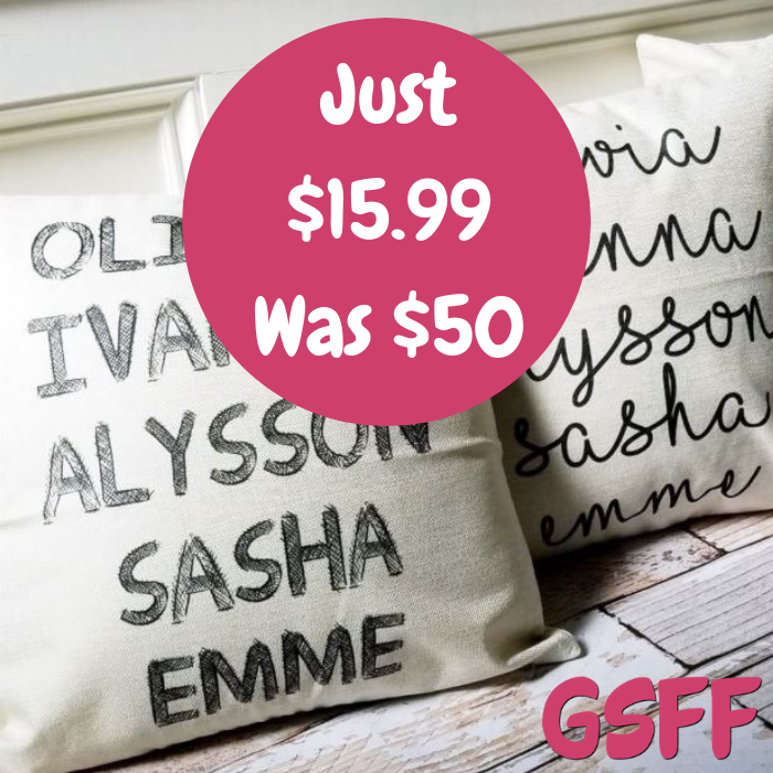 Farmhouse Name Pillow Covers
