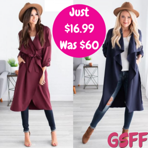 Fall Jacket Just $16.99! Down From $60! PLUS FREE Shipping!