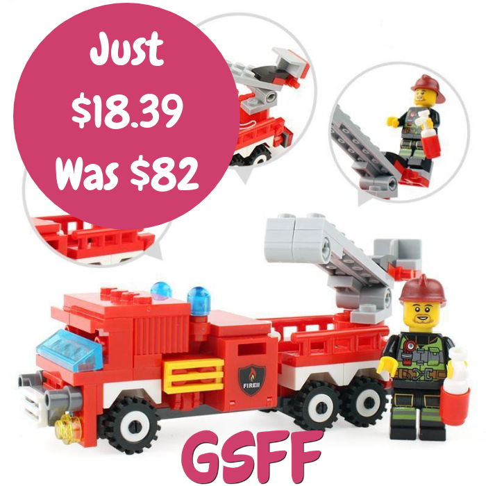 Fire Truck Building Blocks