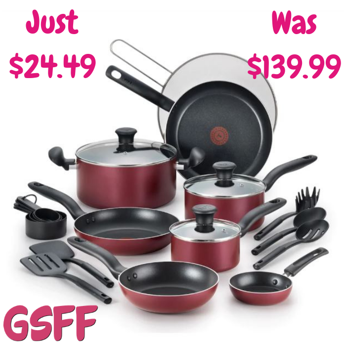 T-Fal 20-Piece Cookware Set