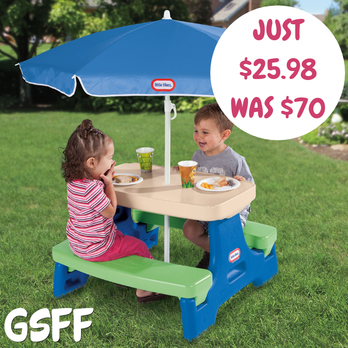Little Tikes Play Table With Umbrella