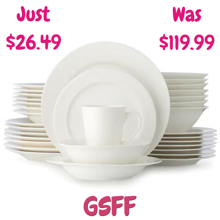 Food Network 40-Piece Dinnerware Set