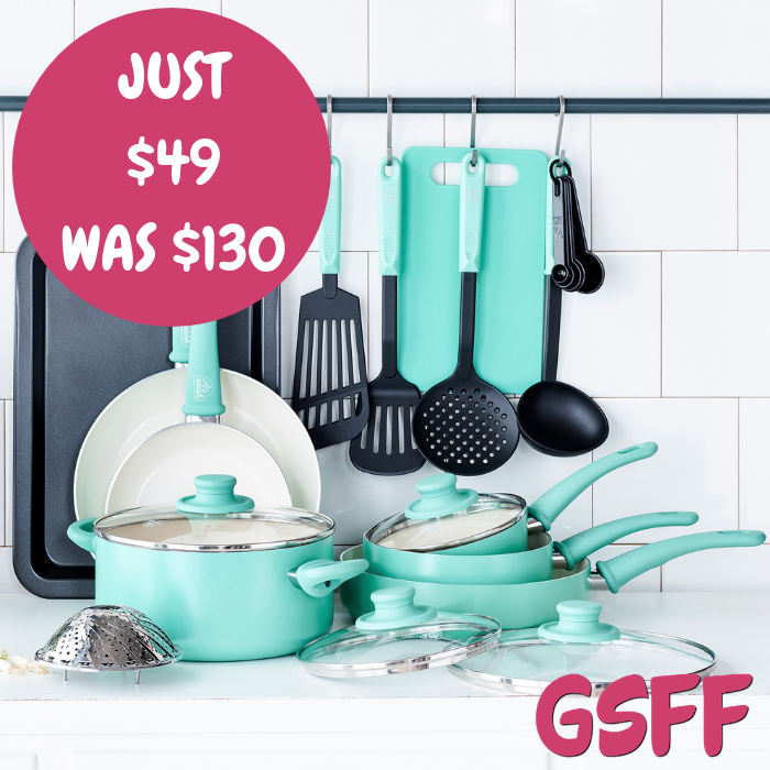 GreenLife 18-Piece Cookware Set