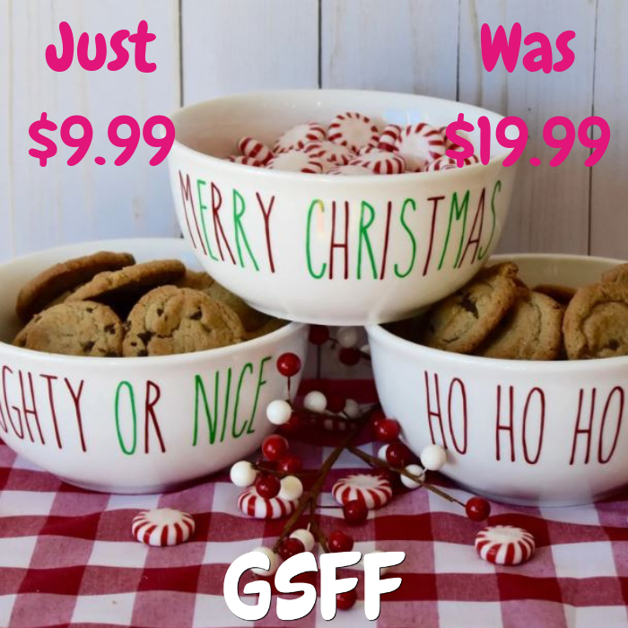Farmhouse Christmas Candy Dishes