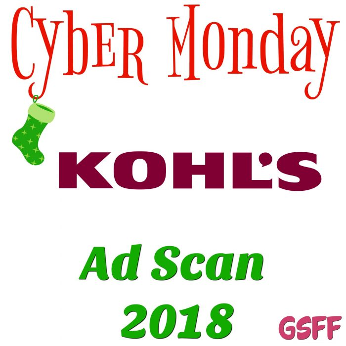 Kohl's Cyber Monday Deals 2018!