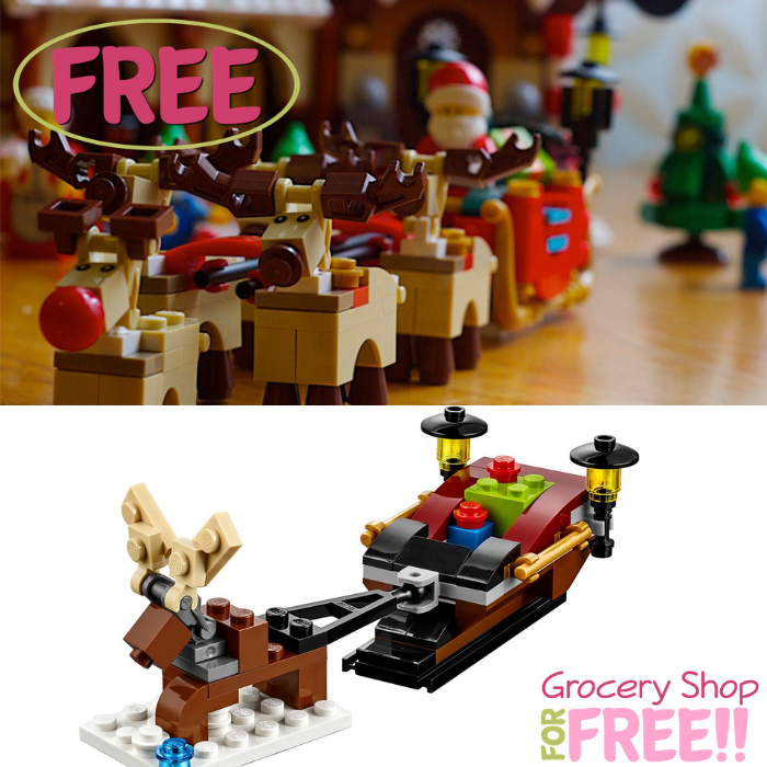 FREE LEGO Reindeer & Sleigh Mini Model Build Event!