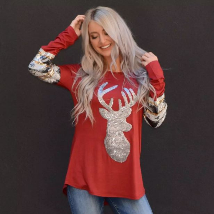 Sparkly Reindeer Tunic