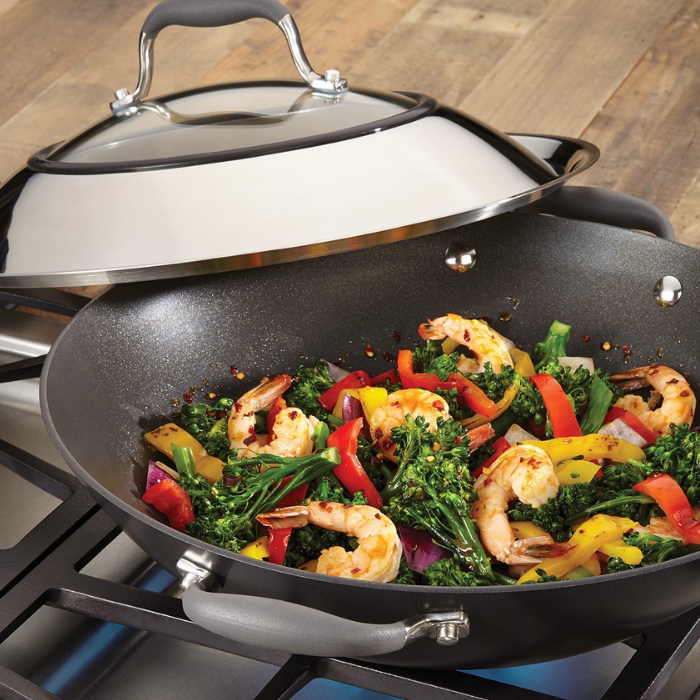 "Anolon 14"" Covered Wok"