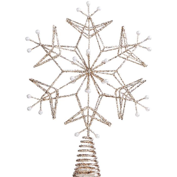 Golden Snowflake Tree Topper