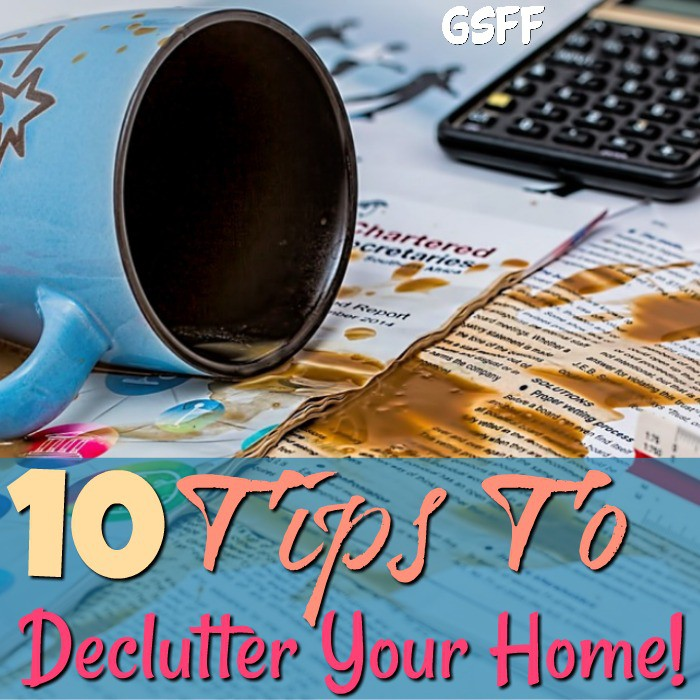 Need to do some decluttering?  We've got you covered with these 10 Tips To Declutter Your Home!  We're decluttering everything from the kitchen to your desk!