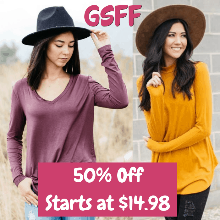 50% Off Women's Tops! PLUS FREE Shipping!
