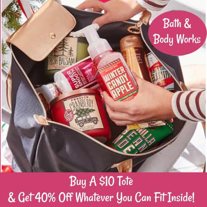 Bath & Body Works: Buy A $10 Tote Get 40% Off Anything You Can Fit Inside!
